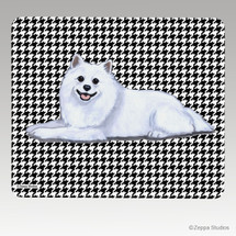 American Eskimo Dog Houndstooth Mouse Pad
