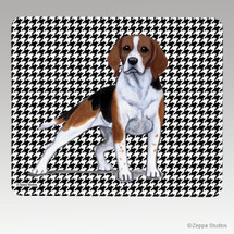Beagle Houndstooth Mouse Pad