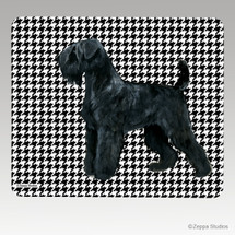 Black Russian Terrier Houndstooth Mouse Pad