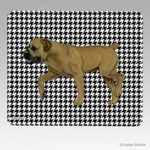Boerboel Houndstooth Mouse Pad