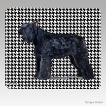 Bouvier Houndstooth Mouse Pad