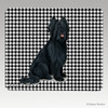 Black Briard Houndstooth Mouse Pad