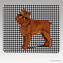 Brussels Griffon Houndstooth Mouse Pad