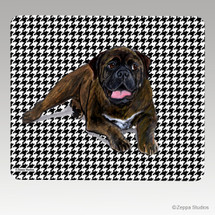 Bull Mastiff Houndstooth Mouse Pad