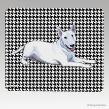 Bull Terrier Houndstooth Mouse Pad