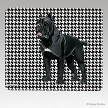 Cane Corso Houndstooth Mouse Pad