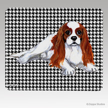 Cavalier King Charles Blenheim Houndstooth Mouse Pad