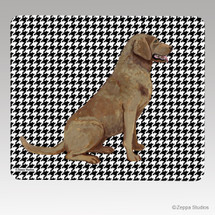 Chesapeake Bay Retriever Houndstooth Mouse Pad