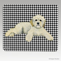 Cockapoo Houndstooth Mouse Pads