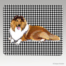 Collie Houndstooth Mouse Pad