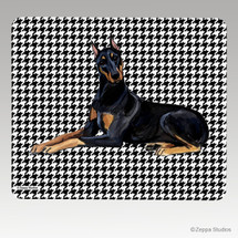 Doberman Houndstooth Mouse Pad