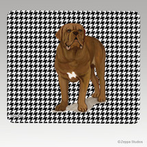 Dogue de Bordeaux Houndstooth Mouse Pads