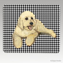 Golden Doodle Houndstooth Mouse Pad