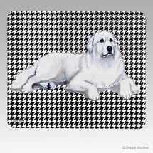 Great Pyrenees Houndstooth Mouse Pad