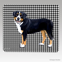 Greater Swiss Mtn Dog Houndstooth Mouse Pad