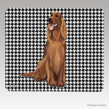 Irish Setter Houndstooth Mouse Pad