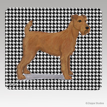 Irish Terrier Houndstooth Mouse Pad