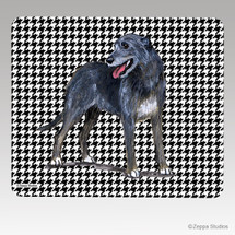 Irish Wolfhound Houndstooth Mouse Pad