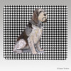 Italian Spinone Houndstooth Mouse Pad