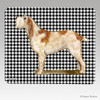Orange Italian Spinone Houndstooth Mouse Pad