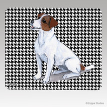 Jack Russell Terrier Houndstooth Mouse Pad