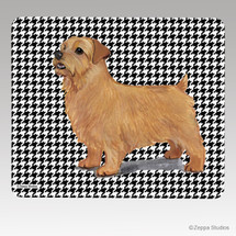 Norfolk Terrier Houndstooth Mouse Pad