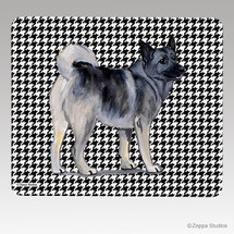 Norwegian Elkhound Houndstooth Mouse Pad