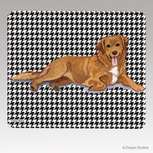 Nova Scotia Duck Tolling Retriever Houndstooth Mouse Pad
