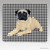Lying Down Pug Houndstooth Mouse Pad