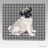 Pug Puppy Houndstooth Mouse Pad