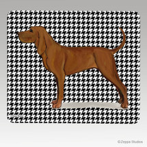 Redbone Coonhound Houndstooth Mouse Pad - Rectangle