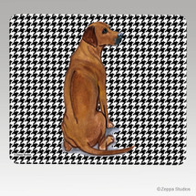 Rhodesian Ridgeback on Houndstooth Mouse Pad