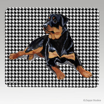 Rottweiler Houndstooth Mouse Pad