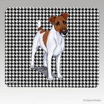 Smooth Fox Terrier Houndstooth Mouse Pad - Rectangle