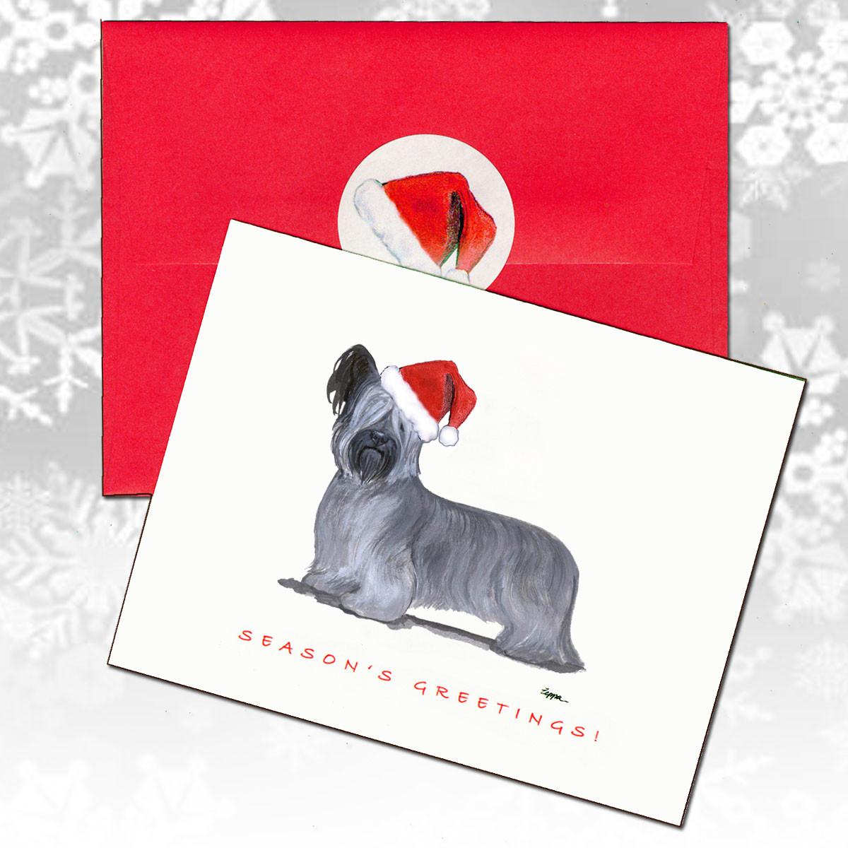 56d61dc34ff Skye Terrier Christmas Cards