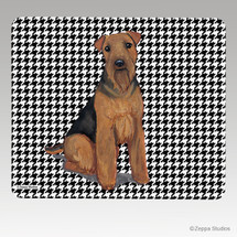 Welsh Terrier Houndstooth Mouse Pad - Rectangle