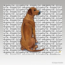 Rhodesian Ridgeback Megabyte Mouse Pad - Rectangle