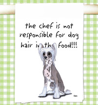 Chinese Crested Flour Sack Kitchen Towel
