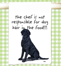 Curly Coated Retriever Flour Sack Kitchen Towel