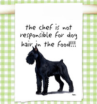 Giant Schnauzer Flour Sack Kitchen Towel