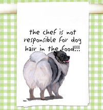 Keeshond Flour Sack Kitchen Towel