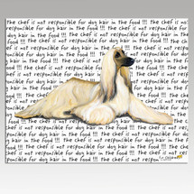 Afghan Hound Message Cutting Board - Rectangular