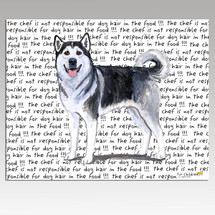 Alaskan Malamute Message Cutting Board - Rectangular