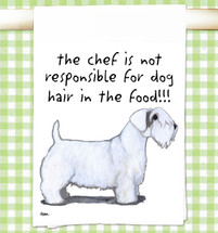 Sealyham Terrier Flour Sack Kitchen Towel