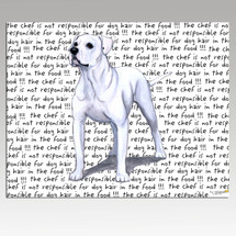 American Bulldog Message Cutting Board - Rectangular