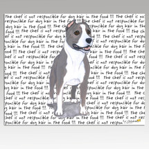American Staffordshire Terrier Message Cutting Board - Rectangular