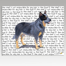 Australian Cattle Dog Message Cutting Board - Rectangular