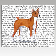 Basenji Message Cutting Board - Rectangular
