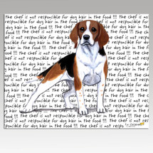 Beagle Message Cutting Board - Rectangular