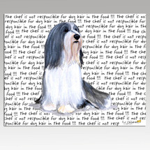 Bearded Collie Message Cutting Board - Rectangular